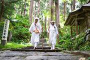 Yamabushi training on Mt. Haguro of the Dewa Sanzan Mountains.